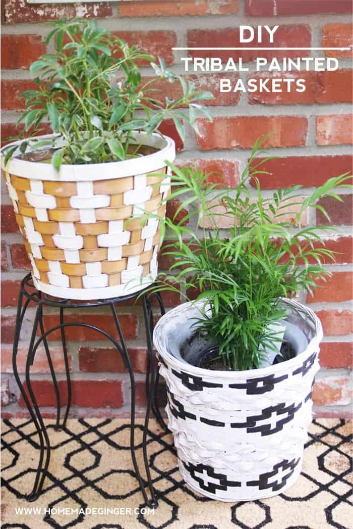 Best Diy Tribal Painted Baskets For Home Decor Diycandy Com This Month