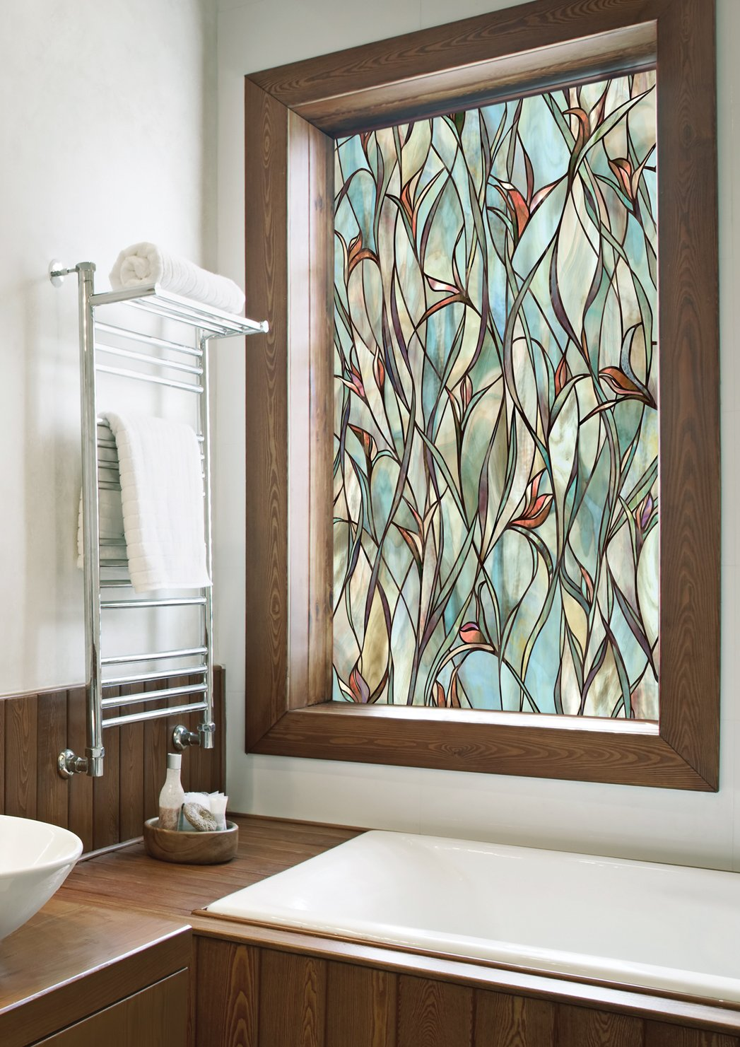 Best Stained Glass Panels Non Adhesive Frosted Privacy Flowers This Month