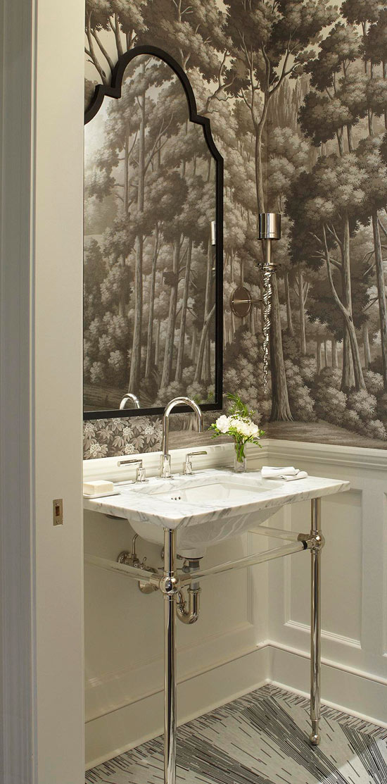 Best Create A Smashing Powder Room Traditional Home This Month