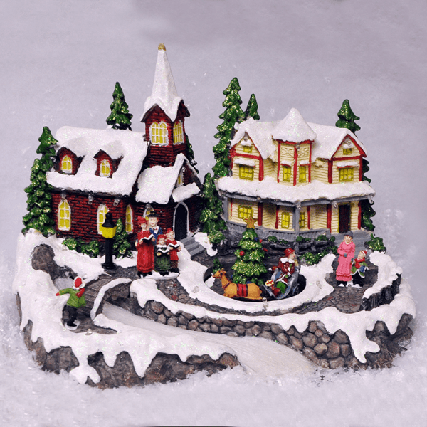 Best Animated Christmas Village Scene Ornament Lights Sounds This Month