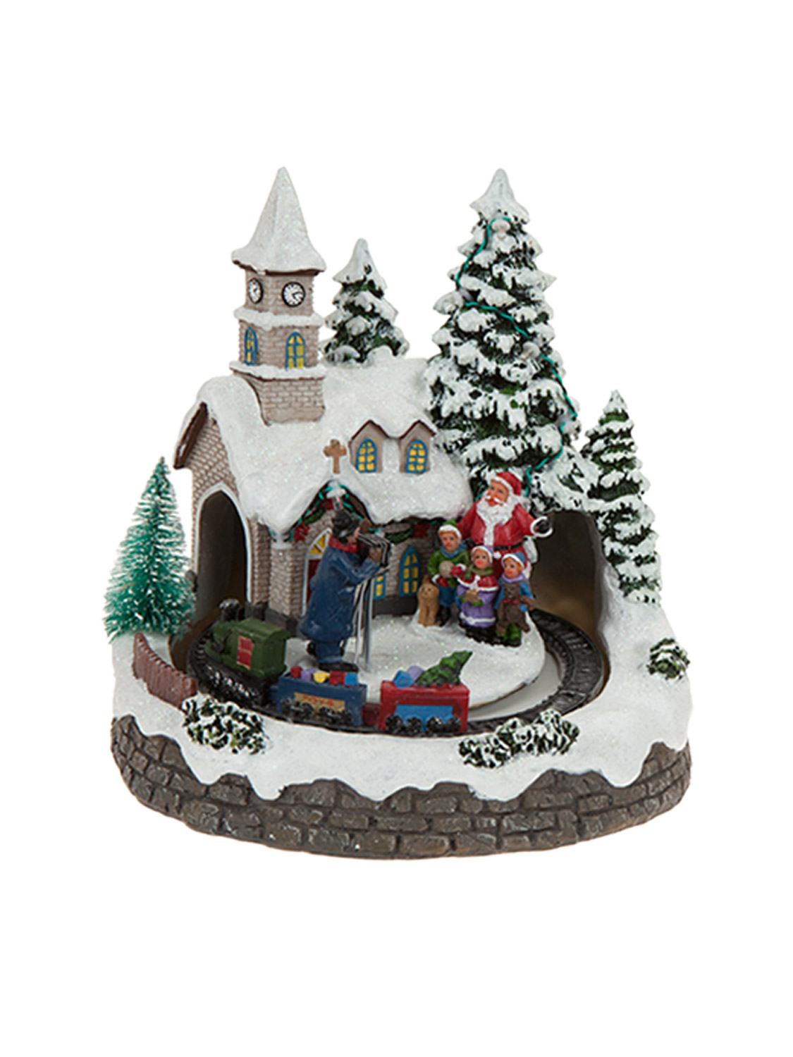 Best Animated Village Scene Led Train House Christmas This Month