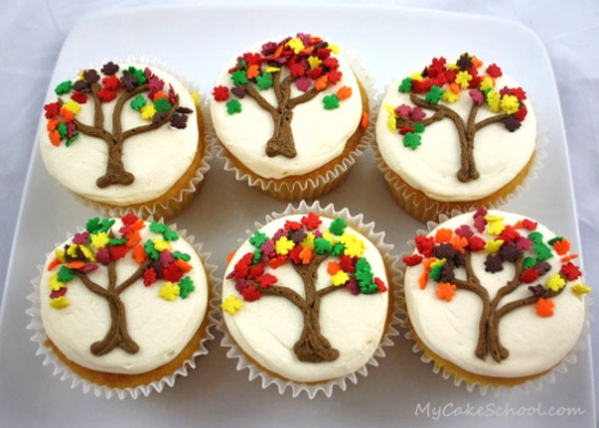 Best Autumn Tree Cupcakes Keeprecipes Your Universal Recipe Box This Month
