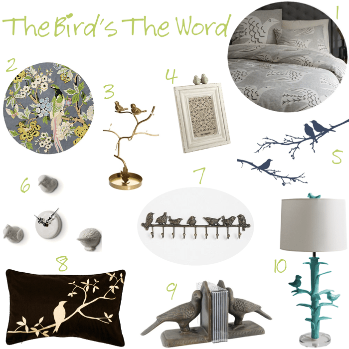 Best Bird Themed Home Decor This Month