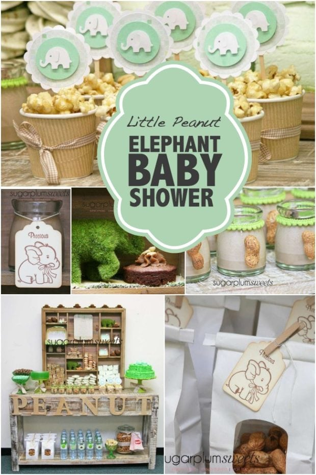 Best Little Peanut Elephant Baby Shower Spaceships And Laser This Month