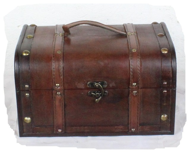 Best Decorative Wood Treasure Box Wooden Trunk Chest Rustic This Month
