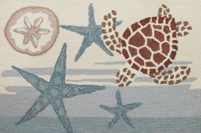 Best Coastal Turtle Rug Beach Style Rugs By Homefires Rugs This Month