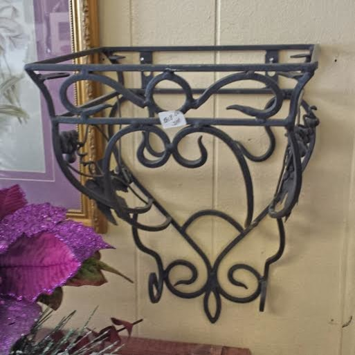 Best Black Wrought Iron Wall Shelf For Sale Traditional This Month