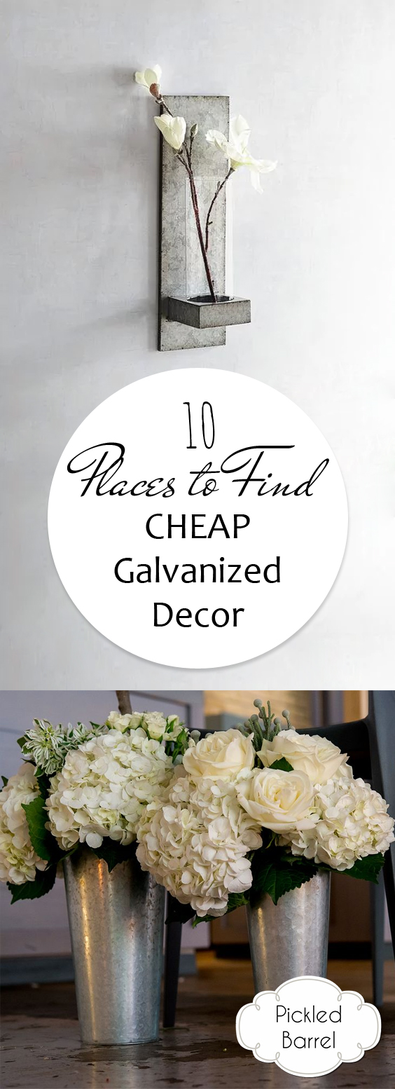 Best 10 Places To Find Cheap Galvanized Decor – Pickled Barrel This Month