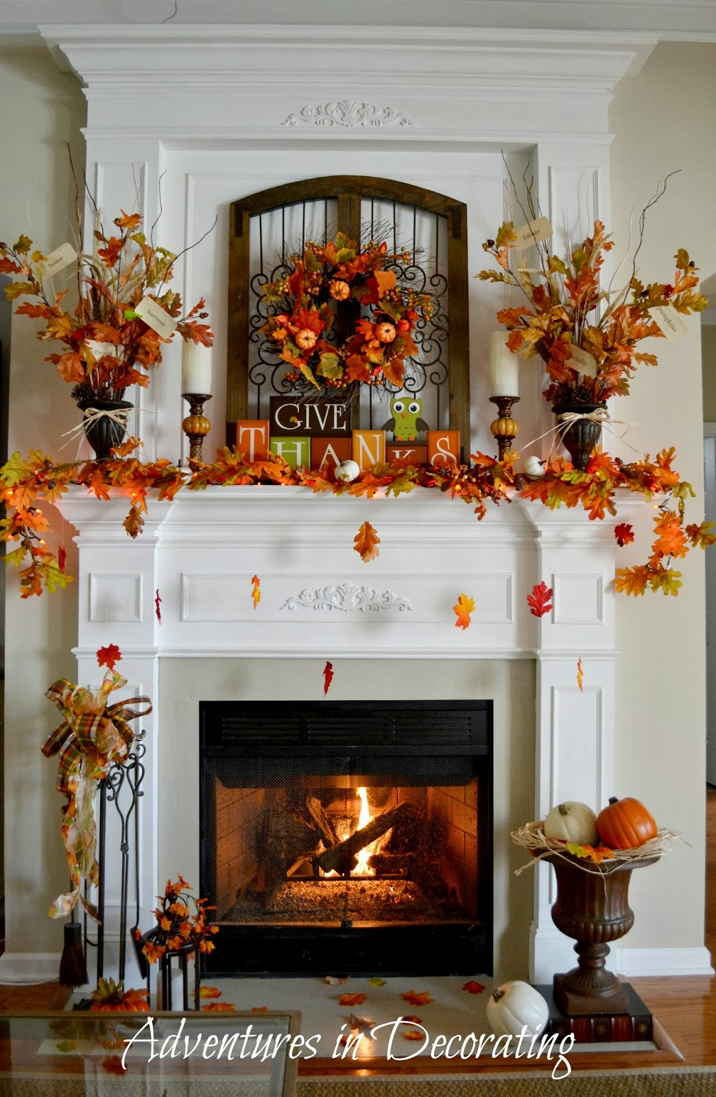 Best Adventures In Decorating Our Fall Mantel This Month