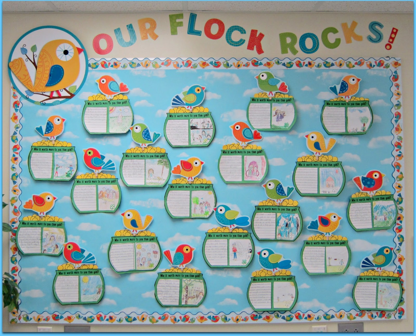 Best Boho Birds Bulletin Boards Sunny Days In Second Grade This Month