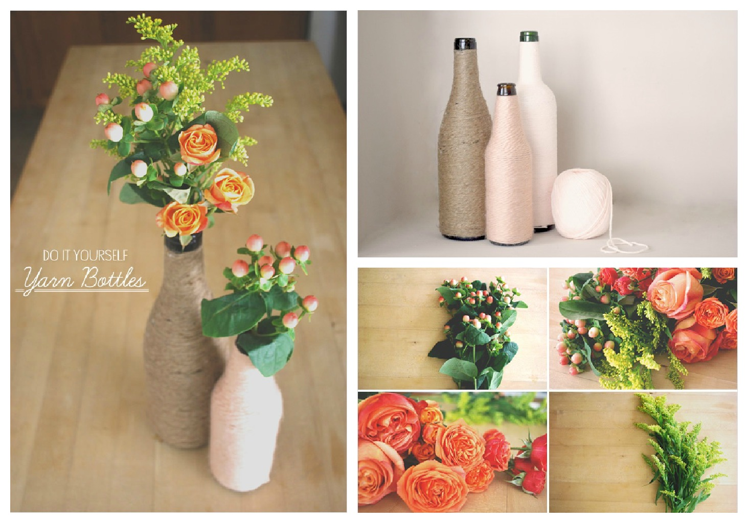Best Diy Yarn Wrapped Bottles Home Decor Barefoot Duchess This Month
