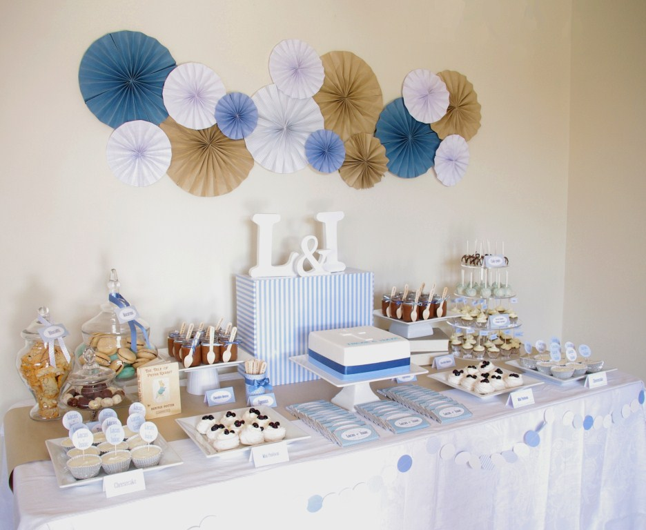Best Piece Of Cake Blue Brown White Christening Table This Month