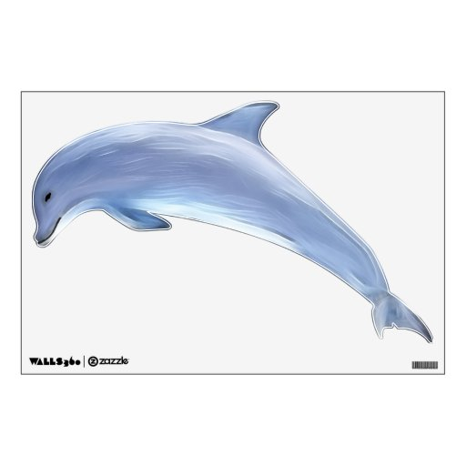 Best Dolphin Left Facing Wall Sticker Zazzle This Month