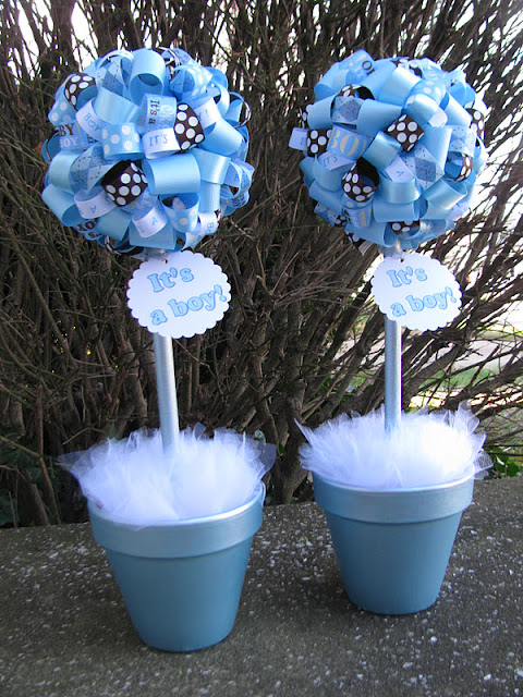 Best Banana Lala It S A Boy Baby Shower Topiaries In Light This Month