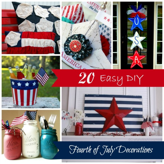 Best 20 Easy Diy Fourth Of July Decorations Brittany Estes This Month