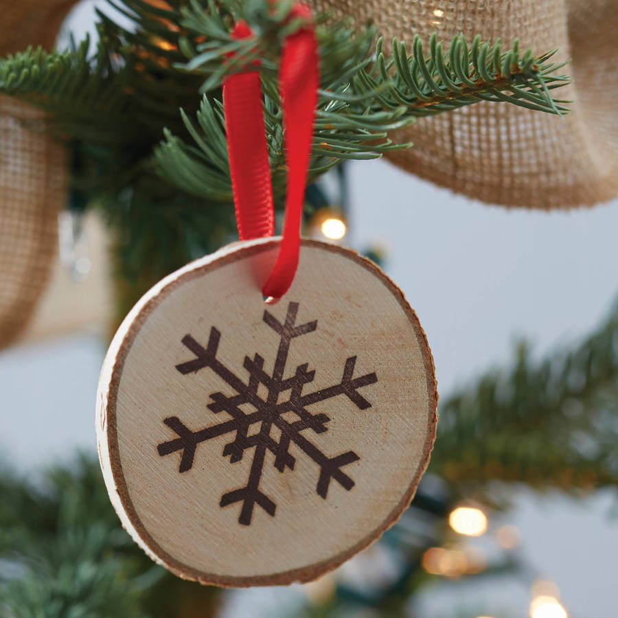 Best Christmas Wooden Snowflake Hanging Tree Decorations By This Month