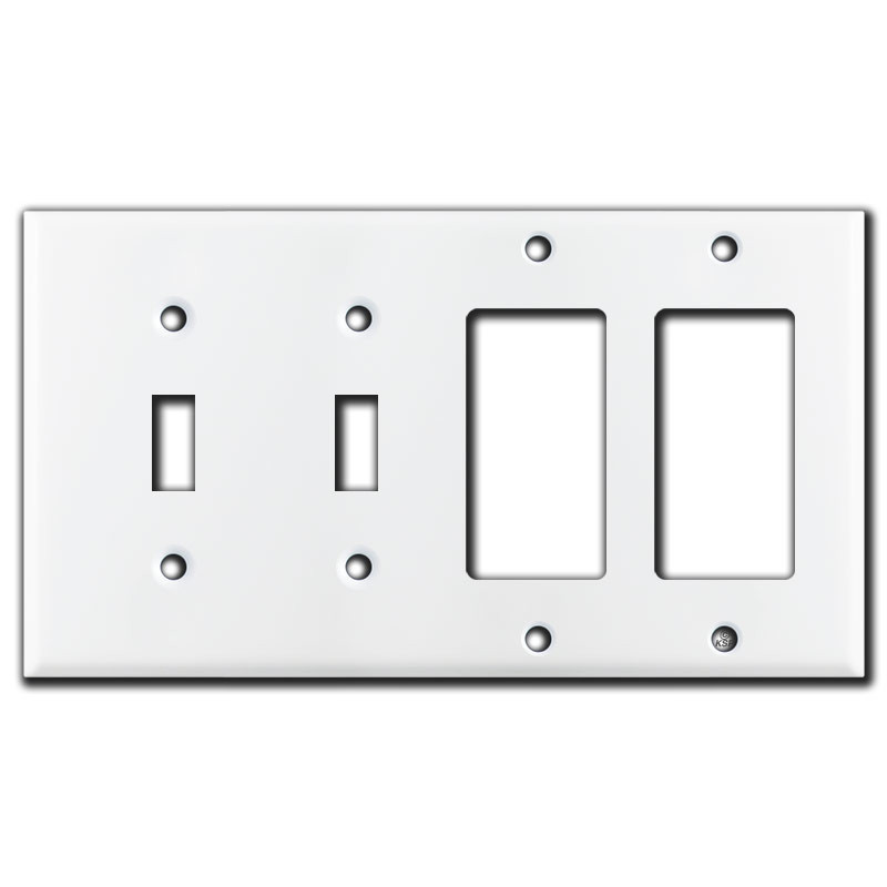 Best 2 Toggle 2 Decora Rocker Switch 4 Gang Wall Plate White This Month