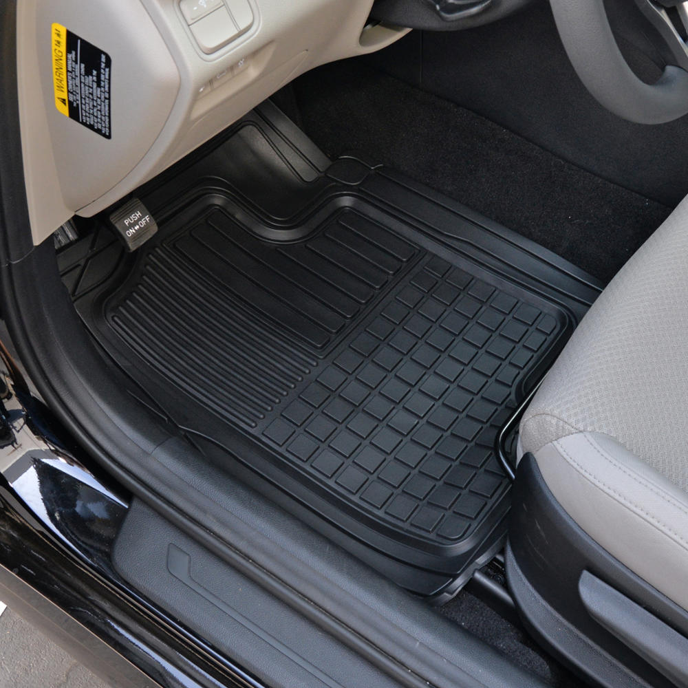 Best Hd 3D Rubber Car Floor Mats Auto Liners All Weather 3Pc This Month