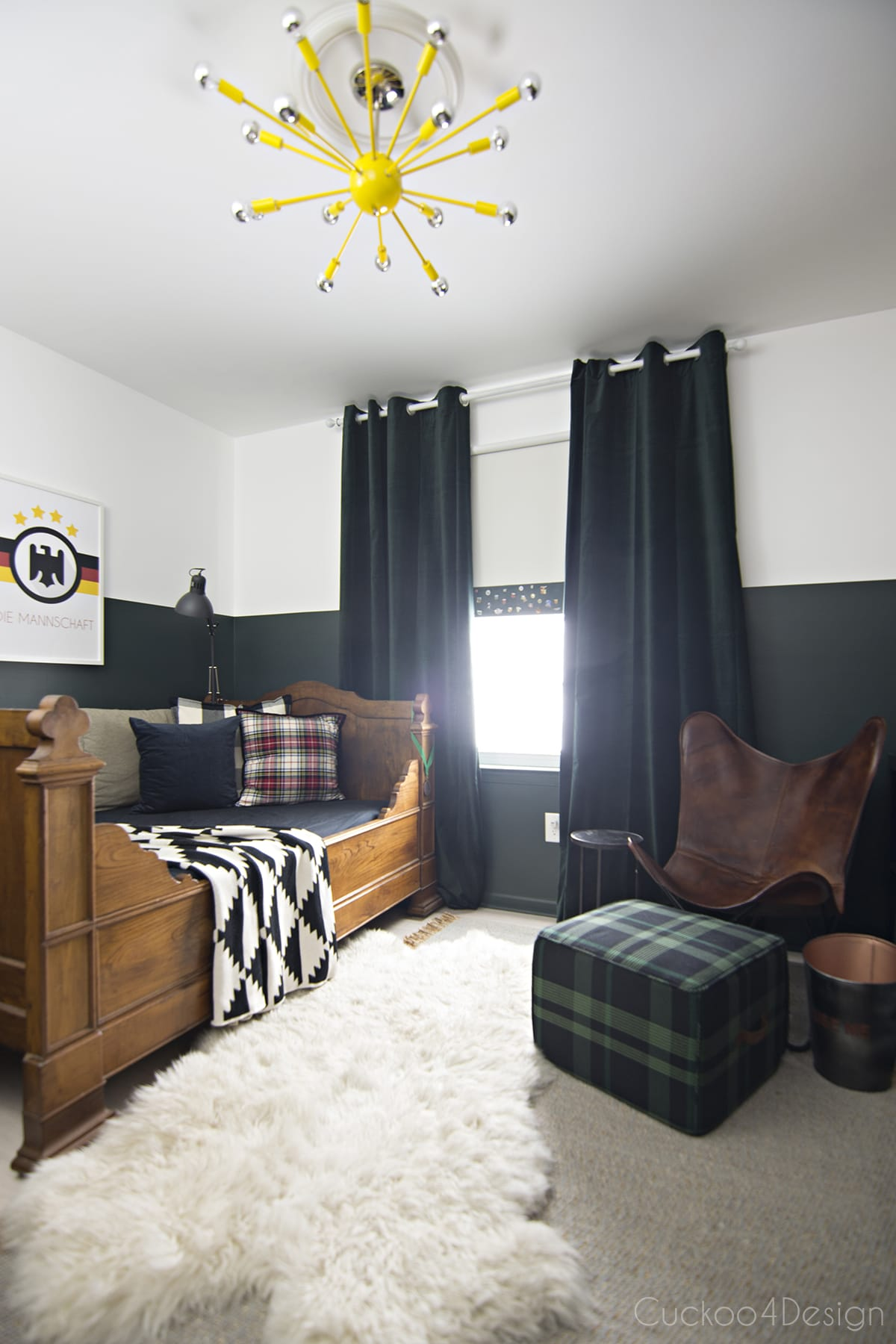 Best Sophisticated Boys Room With Dark Green Walls Cuckoo4Design This Month