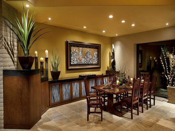 Best Tropical Dining Room Decorating Ideas 2012 From Hgtv This Month
