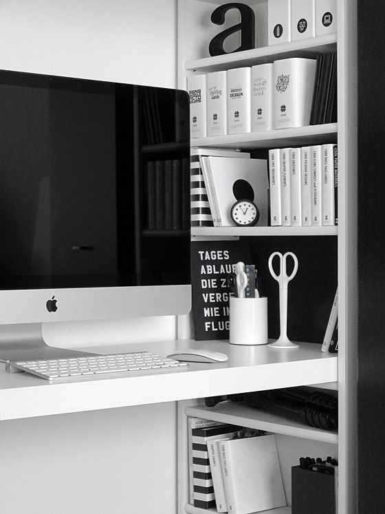 Best The 3 Steps To Creating A Black And White Home Office This Month