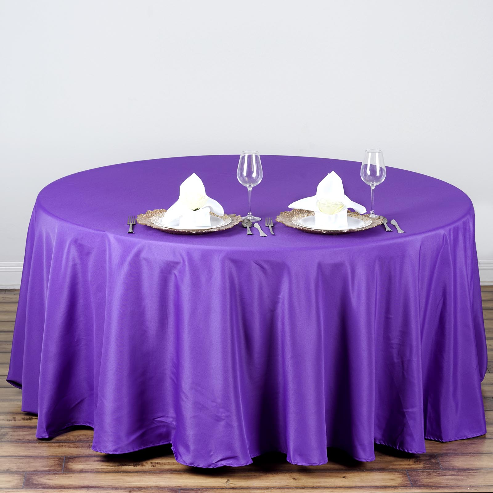 Best 6 Pcs Wholesale Lot 108 Round Polyester Tablecloths This Month
