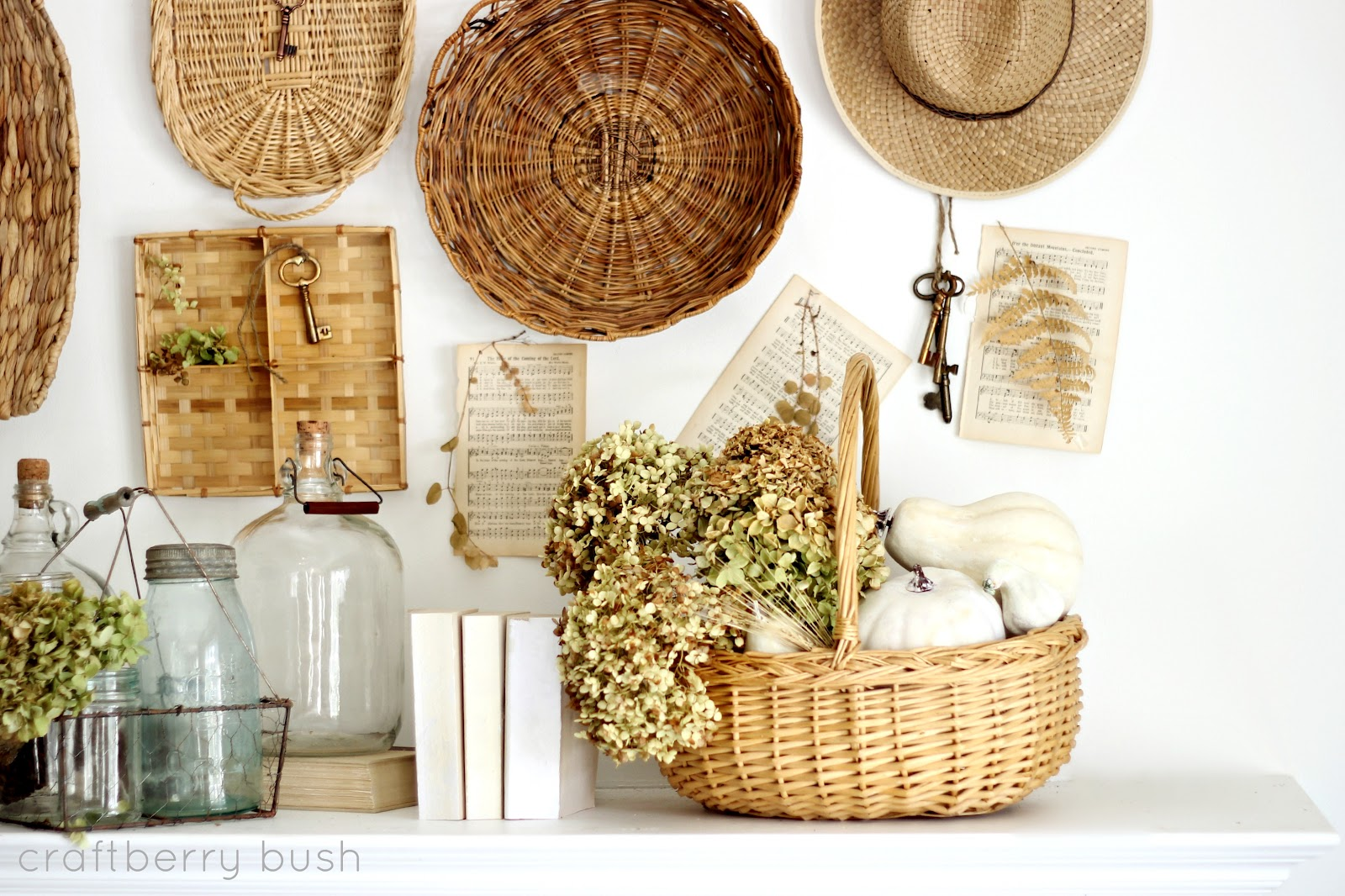 Best A Collection Of Baskets…My Fall Mantel 2012 This Month