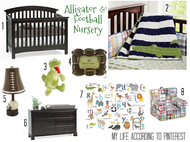 Best My Life According To Pinterest Alligator Football Nursery This Month