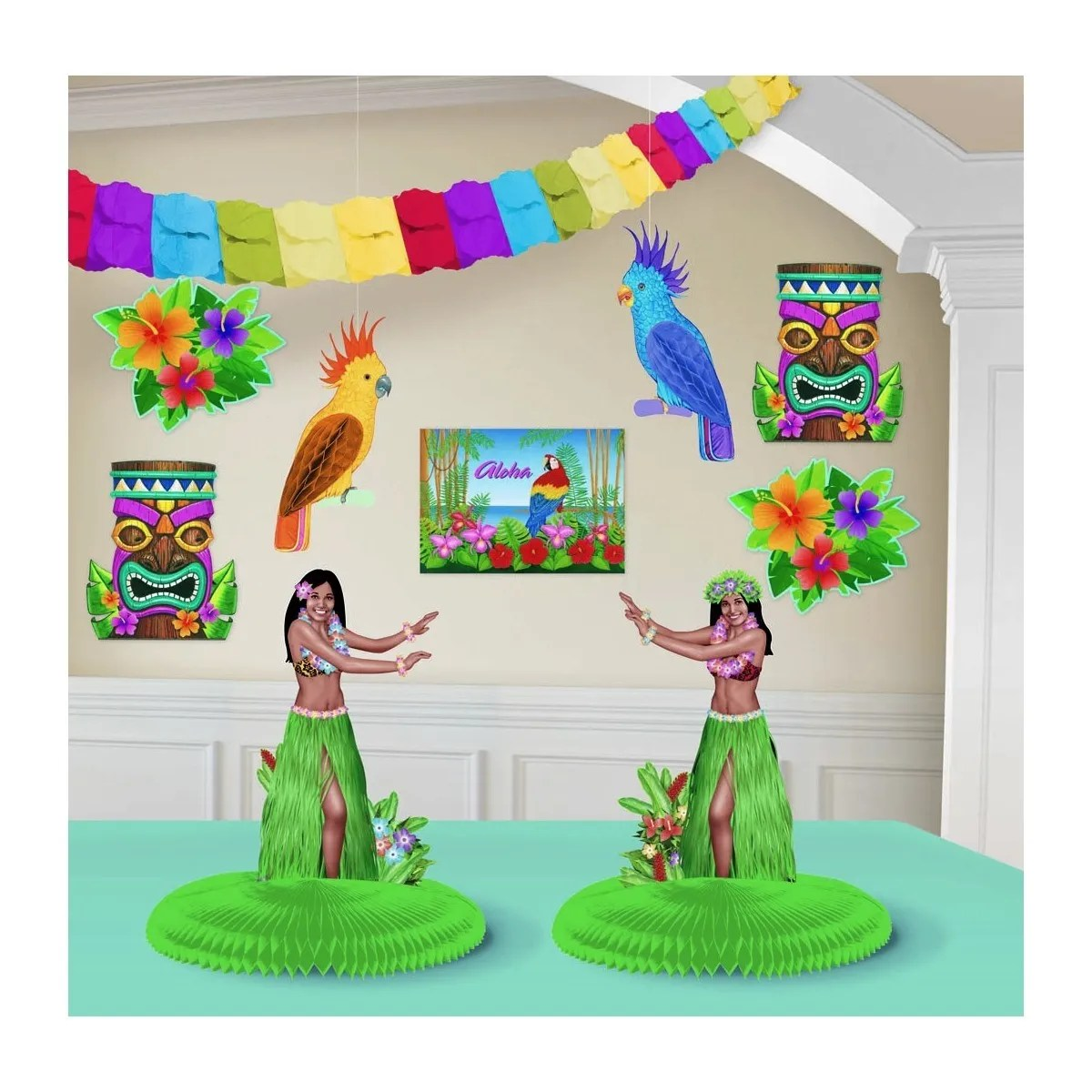 Best Hawaiian Luau Summer Tropical Party Supplies Room This Month