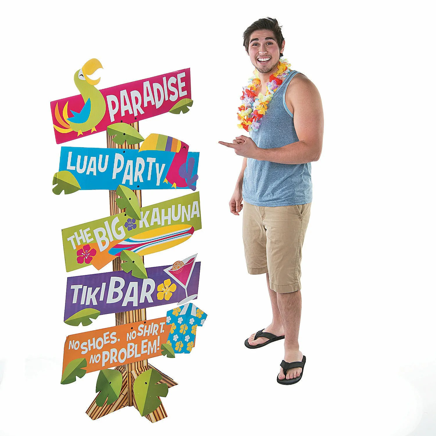 Best Hawaiian Luau Tropical Party Directional Yard Street Signs This Month