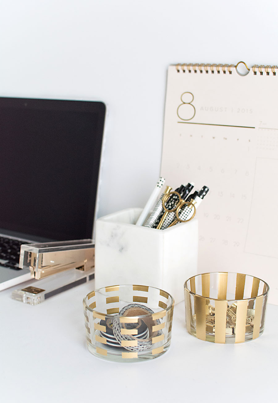 Best Diy Gold Pattern Desk Organizers H*M*Y Oh My This Month