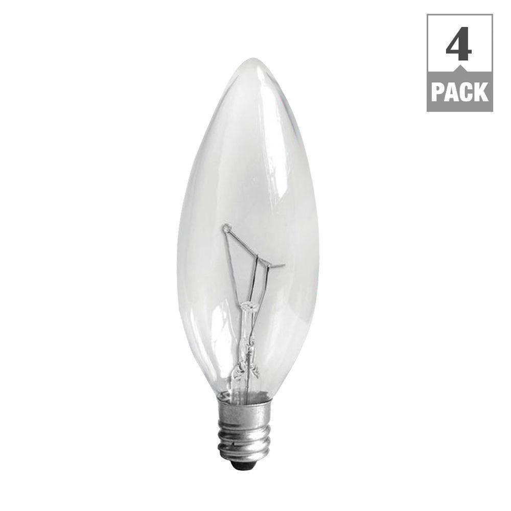 Best Ge 60 Watt Incandescent B10 Candelabra Base Double Life This Month