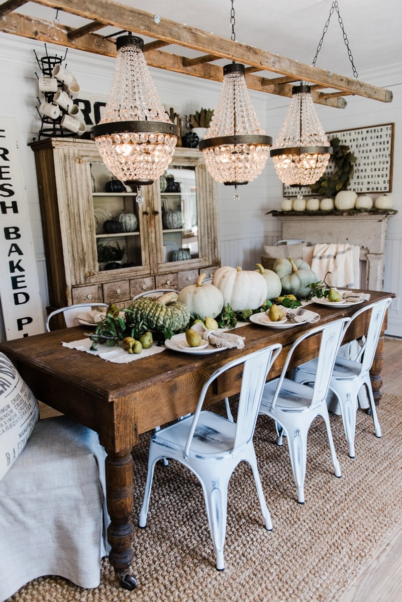 Best Happy Fall – Rustic Pumpkin Pear Farmhouse Table This Month