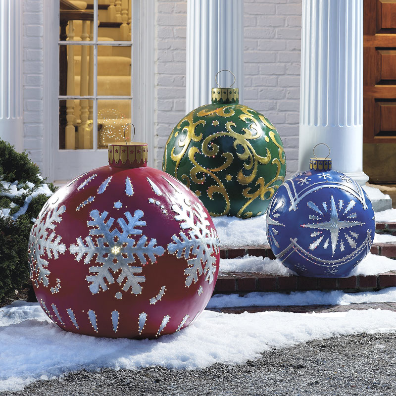 Best Massive Outdoor Lighted Christmas Ornaments The Green Head This Month