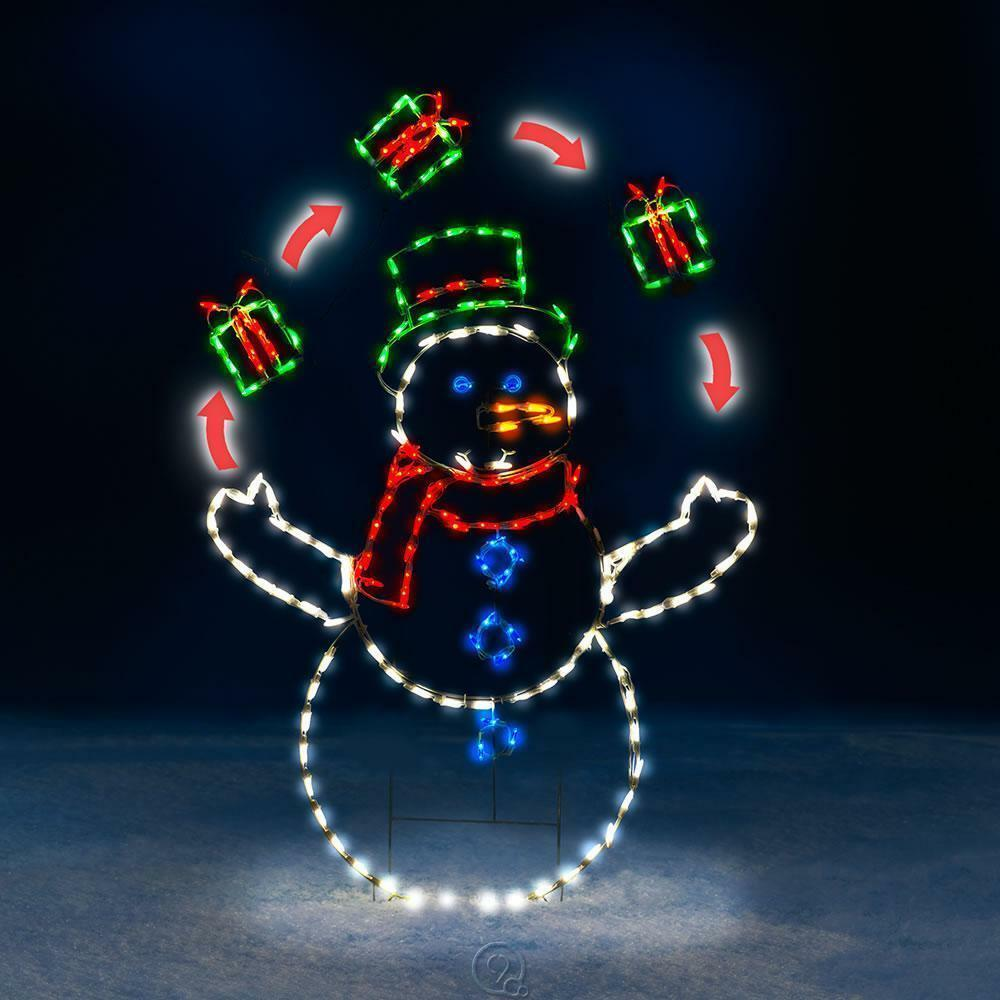Best The 5 Foot Animated Juggling Snowman Outdoor Lawn This Month