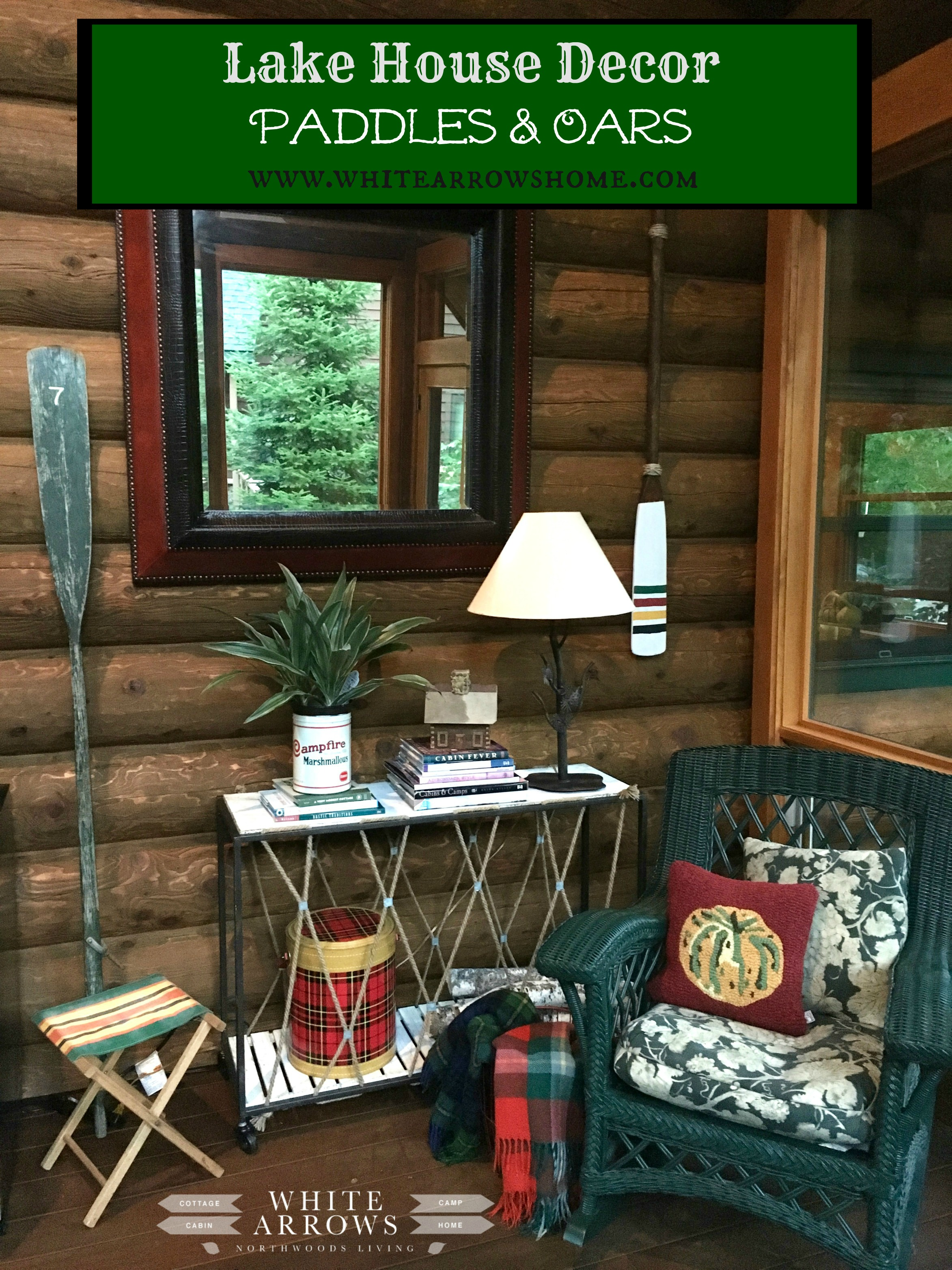 Best Lake House Decor Paddles And Oars White Arrows Home This Month