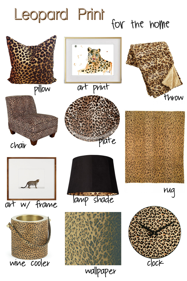 Best Decorating With Leopard Print Decor Whitney J Decor This Month