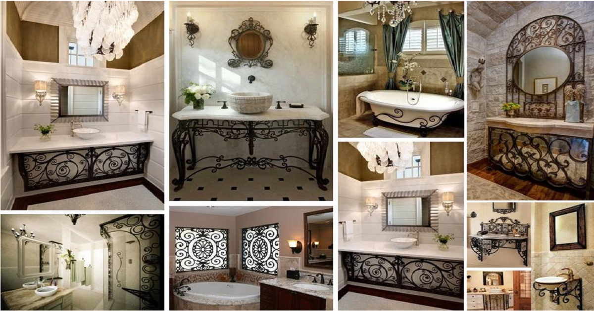 Best Elegant Bathroom Decorating Ideas With Amazing Wrought This Month