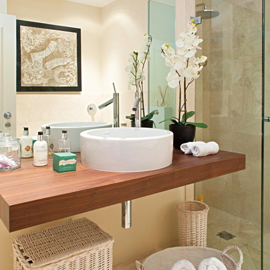 Best 20 Bathrooms With Wooden Countertops This Month