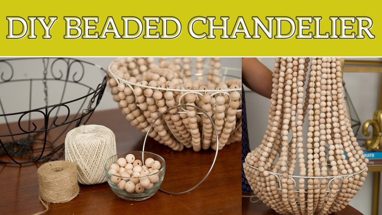 Best Diy Home Decor Beaded Chandelier Youtube This Month