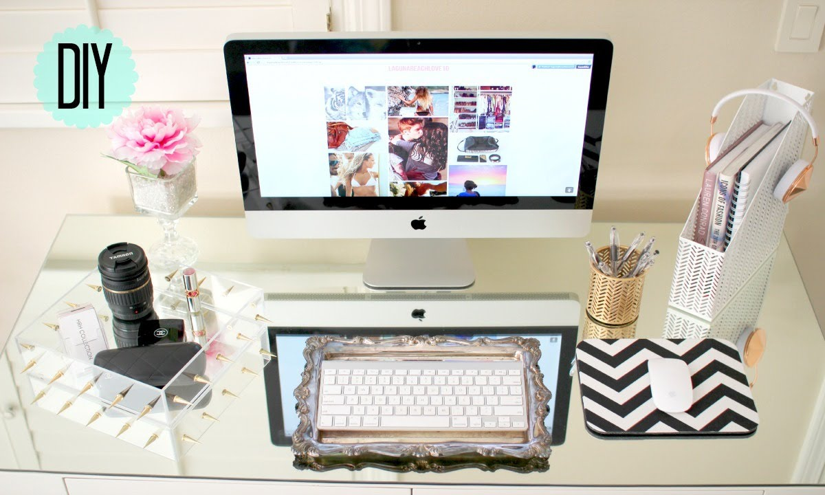 Best Diy Desk Decor Cute Affordable Youtube This Month