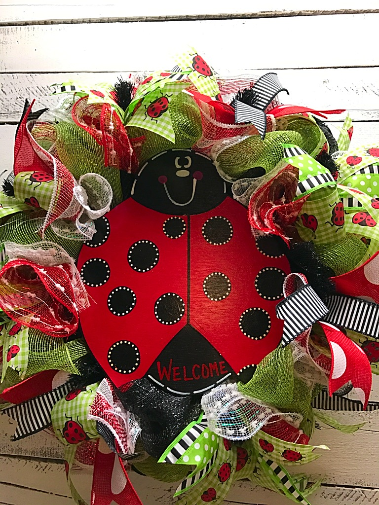 Best Summer Wreath Ladybug Wreath Welcome Wreath Spring This Month