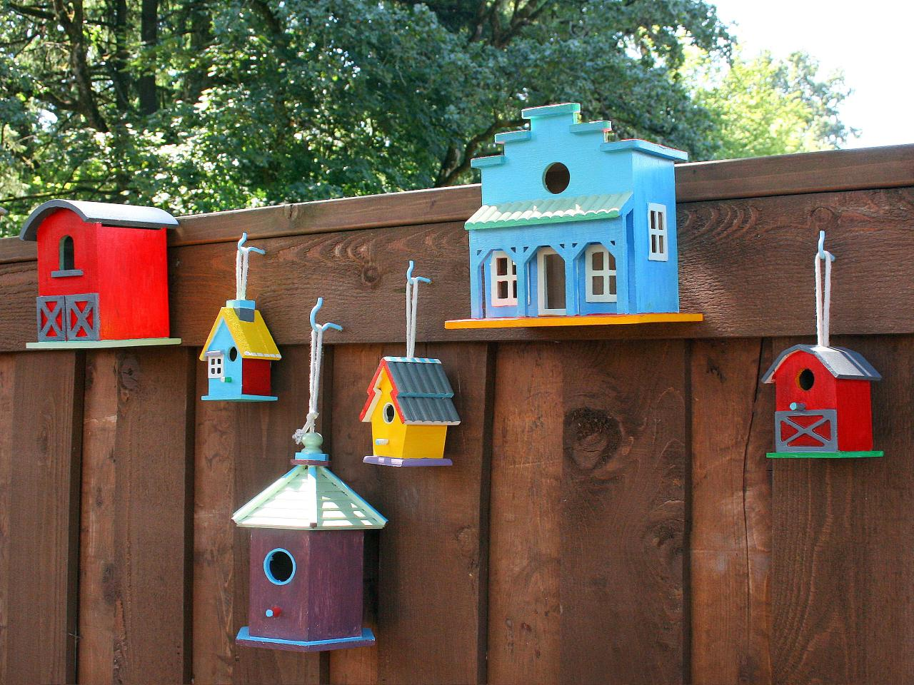 Best Decorate A Fence With Birdhouses Hgtv This Month