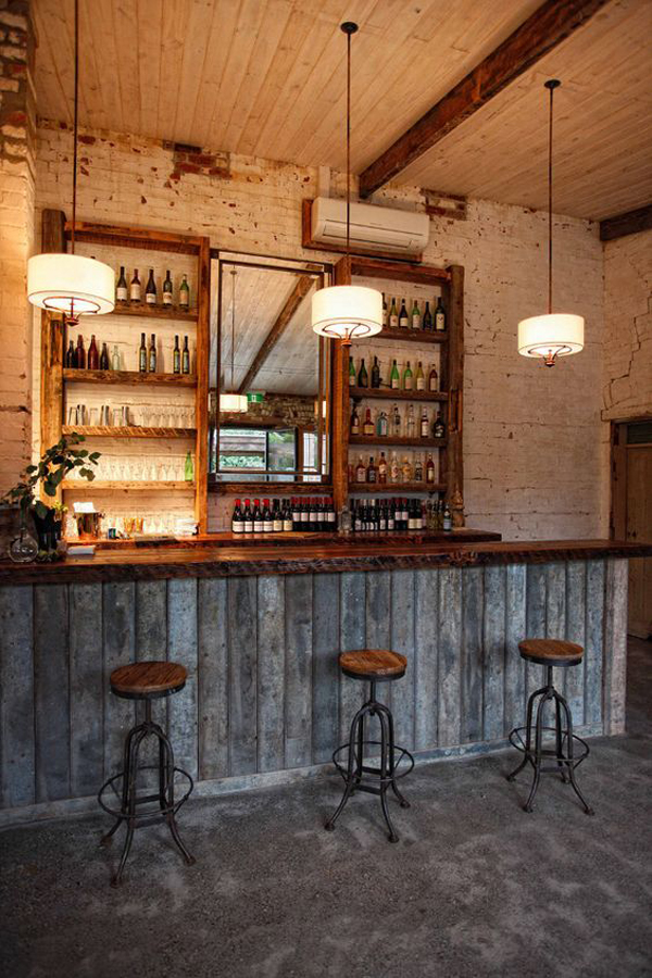 Best Rustic Wood Basement Bar Decor This Month