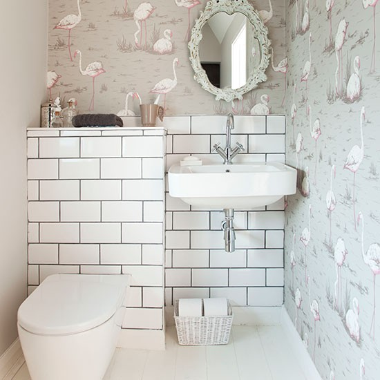 Best Decorative Bathroom With Wallpaper Bathroom Decorating This Month