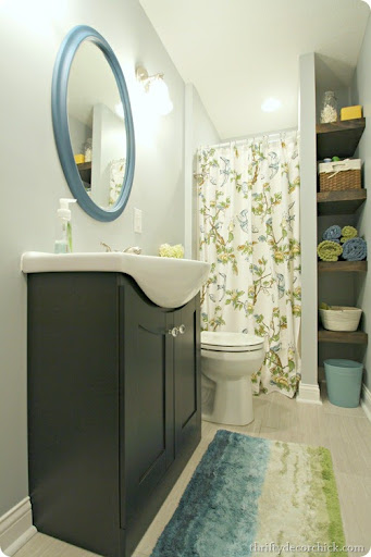 Best Bright Basement Bathroom Done From Thrifty Decor Ch*Ck This Month