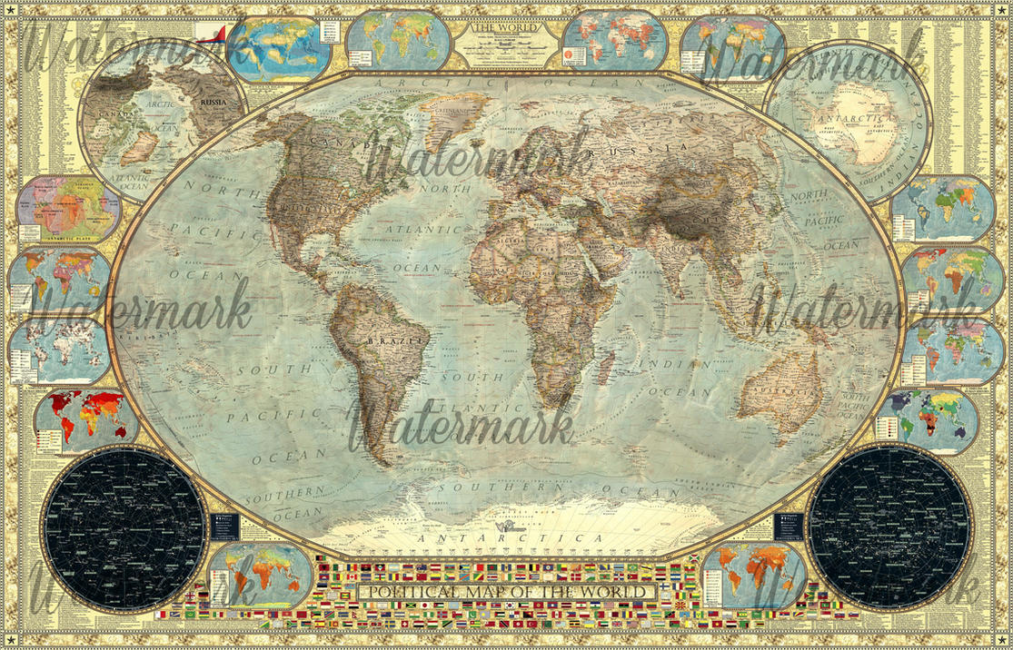 Best Political Map Of The World Imperial Decorative By This Month