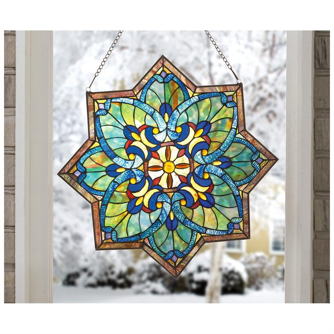 Best Castlecreek™ Star Stained Glass Window Panel 228097 This Month