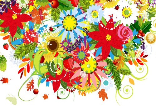 Best Beautiful Decoration Flowers Vector Free Vector In This Month