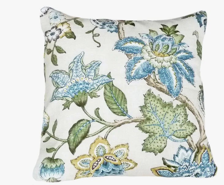 Best Blue Floral Pillows Decorative Throw Pillow By This Month